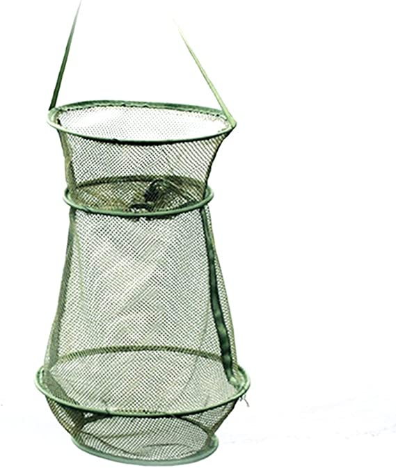 IMIKEYA Foldable Fishing Net Mesh Fish Cage Crawfish Lobster Shrimp Cage Crab Nets for Minnows Fishes Fishing Accessories