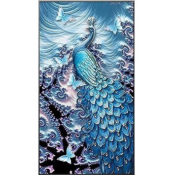 Kentop 5d Diamond Painting Pfau Rhinestone Hand Handwerk Malerei Diy