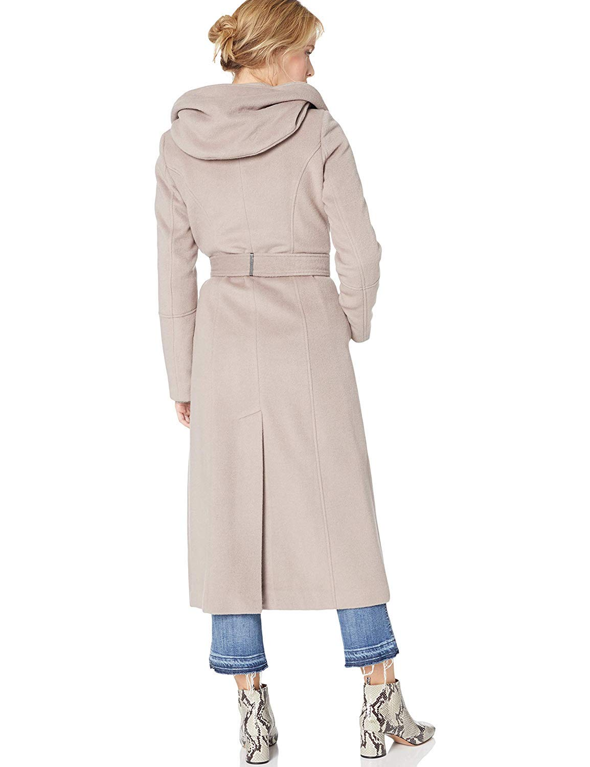 Calvin Klein womens Maxi Length Wool With Oversixed Hood and Toggle Closure
