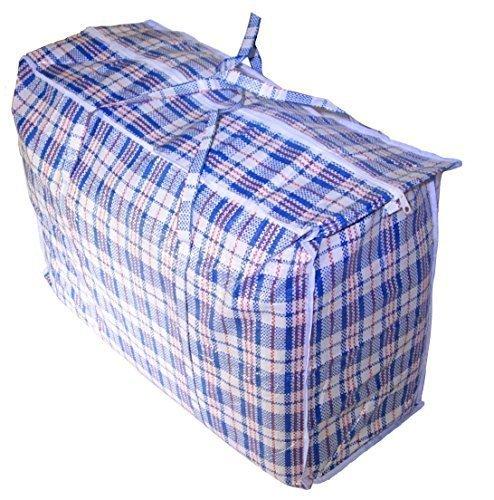 Jumbo Plastic Checkered Storage Laundry Shopping Bags W