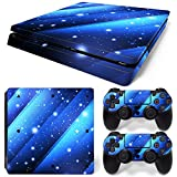 Cheap ModFreakz® Console/Controller Vinyl Skin Set – Blue Streak Stars for PS4 Slim