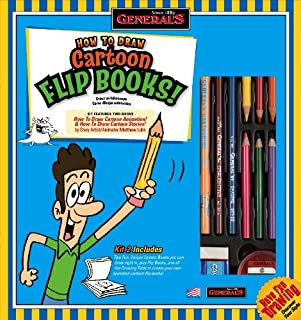product image for General Pencil 69102 How to Draw Cartoon Flip Books Kit
