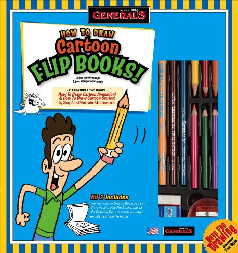 General Pencil 69102 How To Draw Cartoon Flip Books Kit
