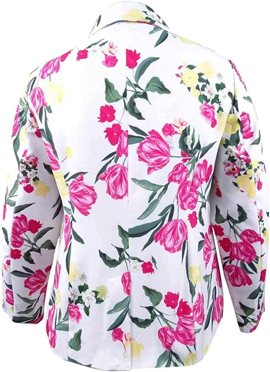 INC International Concepts Womens Plus Size Floral-Print Blazer