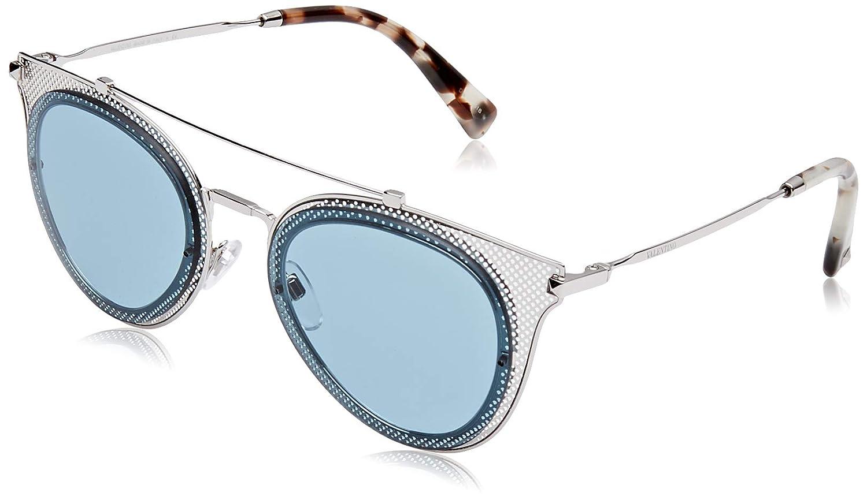 Valentino Women's 0VA2019 300680 53 Sunglasses, Silver Azure