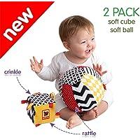 MACIK Soft infant toys SET 2 - Baby sensory toys Development toys 6-12 month baby toys - Baby ride on toys activity GYM…