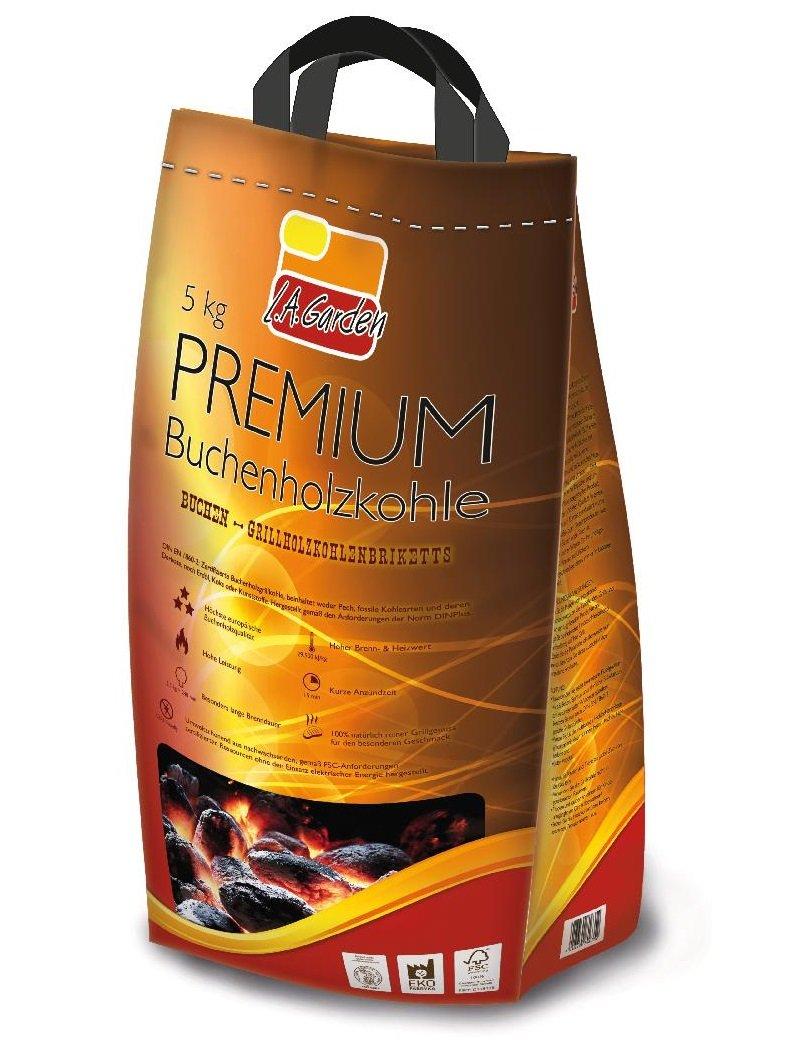 81635 Garden Briketts Premium-Buchenholzkohlebriketts 5 kg L.A