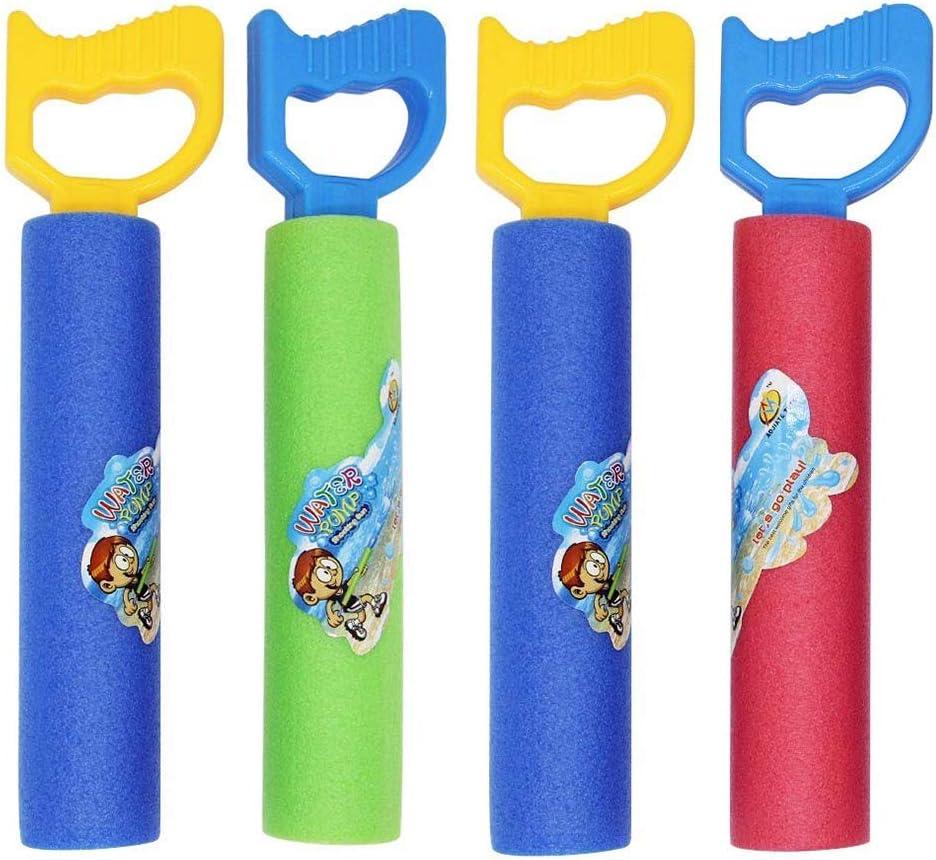 winemana Foam Water Guns, 4 Pack Water Blasters for Kids, Water Squirters for Summer Party Pool or Beach