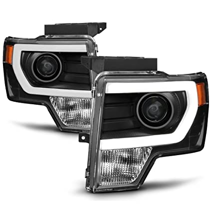 2014 F150 Headlights >> Acanii For New Black 2009 2014 Ford F150 Raptor Led Tube Drl Projector Headlights Headlamps Driver Passenger Side