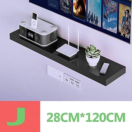 Huangwei Flotantes estantes de Pared Caja de Medios/módem de Cable/decodificador Caja de la Consola/Consola/TV/DVD/Juego de Consola en Rack/pequeña de Productos electrónicos/Almacenamiento/Co: Amazon.es: Hogar