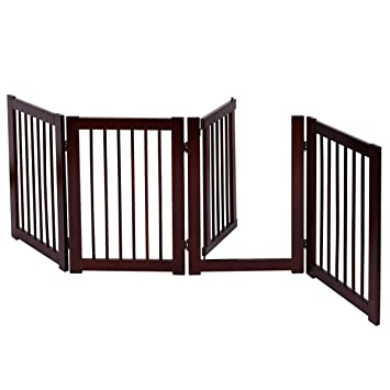 Amazon Com Lucky Link Wood Fence Pet Dog Puppy Baby Safety Gate