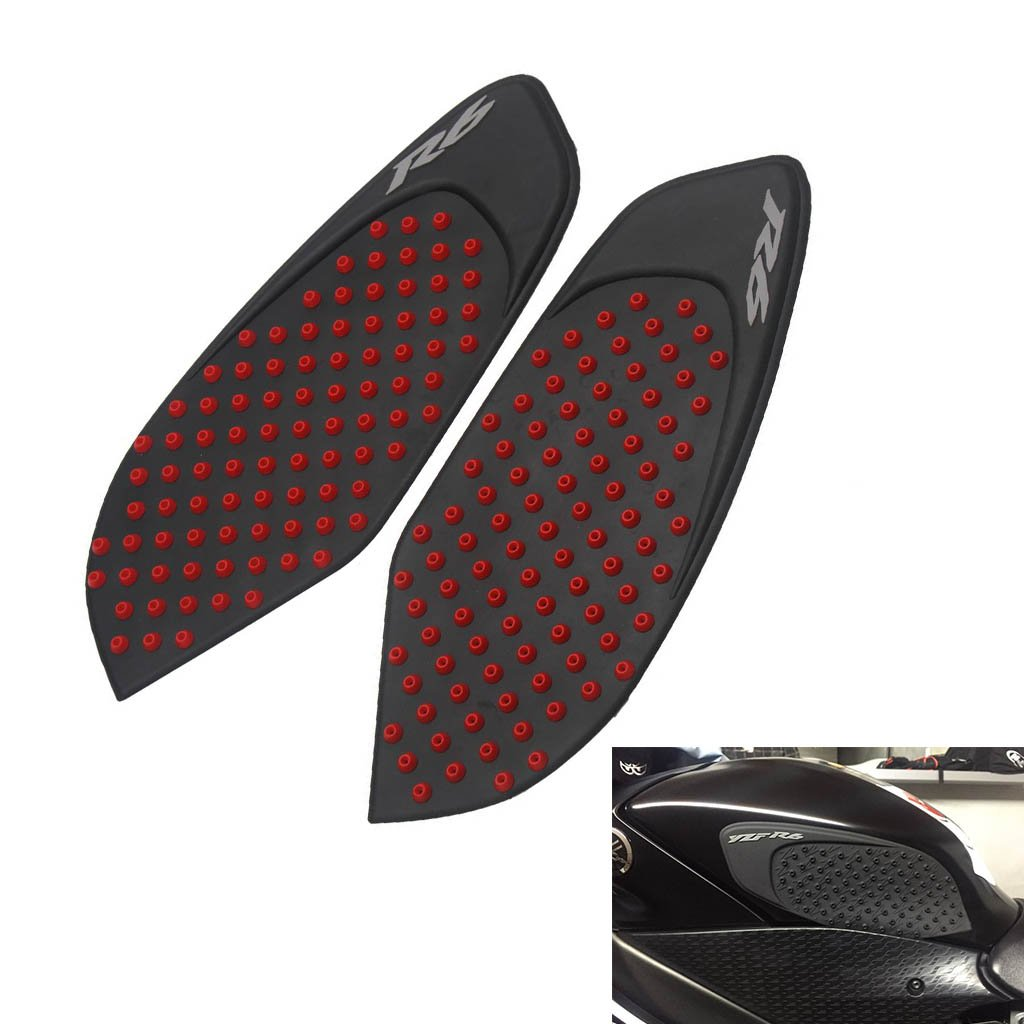 Tank Gas Pad Knee Fuel Side Grips Protector For Yamaha YZF R6 2008-2015 (Red)