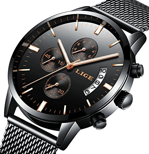 Watch,Men Watch,Thin Fashion Casual Watch With Milanese Mesh Band, Waterproof Big Face Minimalist - Faces Women With Square