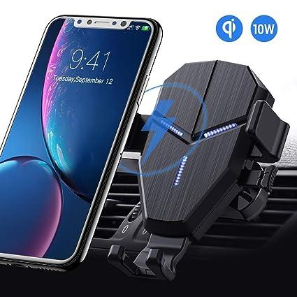 Qi Cargador Inalámbrico Coche, Avolare Carga Rápida Soporte Móvil Automático, 10W S10/S10+/S9/S9+/S8/S8+/s7, 7.5W iPhone 11/11 Pro/11Pro MAX/XS/XS ...