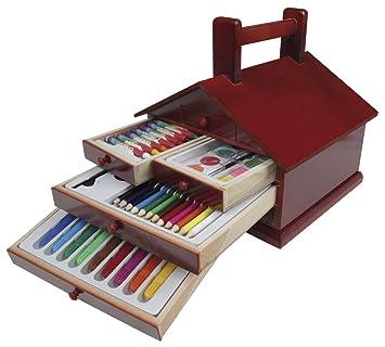 Streto - Estuche de pintura stetro casita 62 piezas.: Amazon ...