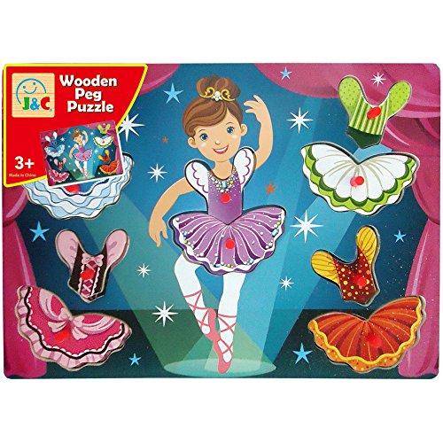Ballerina Wooden Peg Puzzle