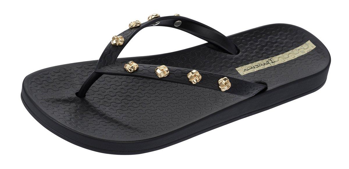Ipanema Premium Love Knot Womens Flip Flops/Sandals-Black-9