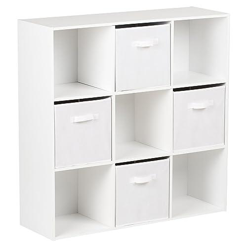 Hartleys White 9 Cube Unit U0026 4 White Storage Drawers