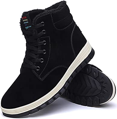 Winter Warm Shoes Men Snow Boots Fur-lined Slip On Warm Casual Ankle Cotton Shoe