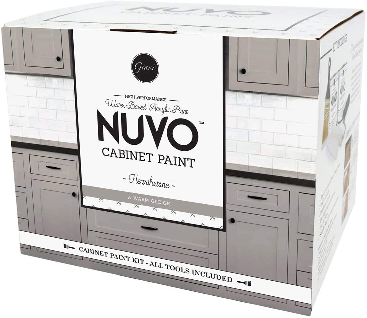 Nuvo Hearthstone All In One Cabinet Makeover Kit Warm Greige