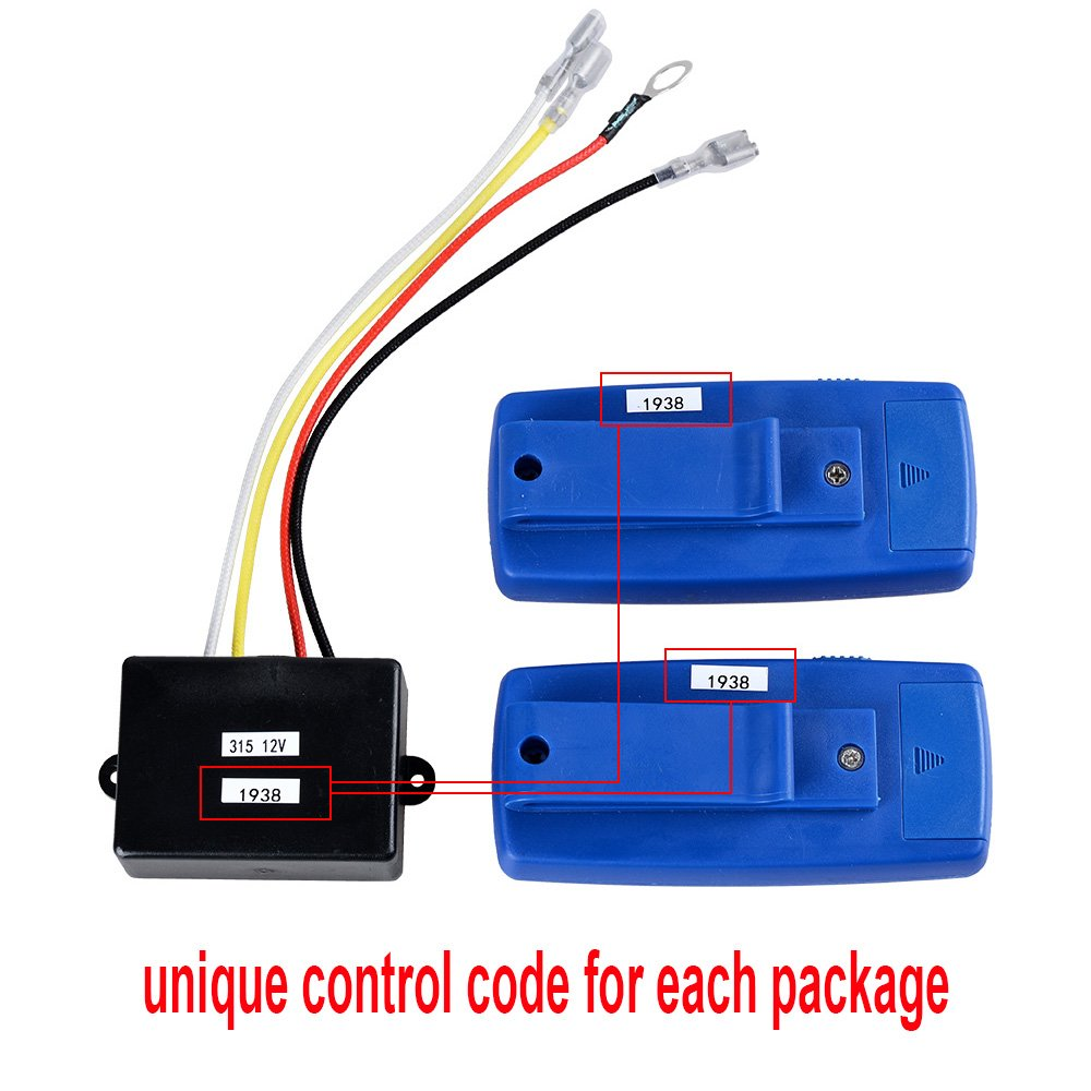 1 Set Astra Depot 12V Wireless Winch Receiver Remote Control 150ft Kit Compatible with Car Jeep ATV UTV 4WD 4x4 Winches Solenoid Contactor Relay