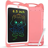 AGPTEK 8.5 Inch Colorful LCD Writing Tablet, Electronic Drawing Board Graphic Tablet eWriters for Kids Home School, Pink