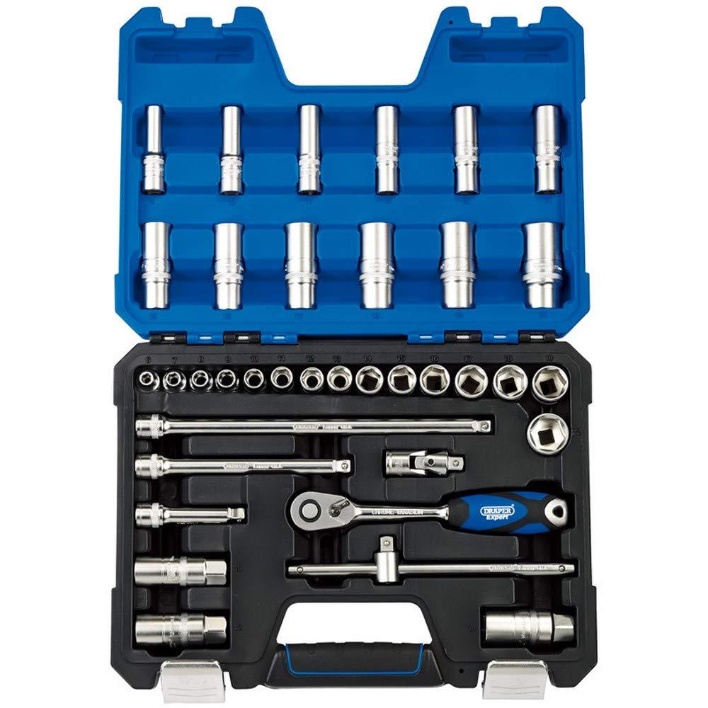 3//8, 36 unidades Juego de llaves de vaso m/étricas Draper 16449