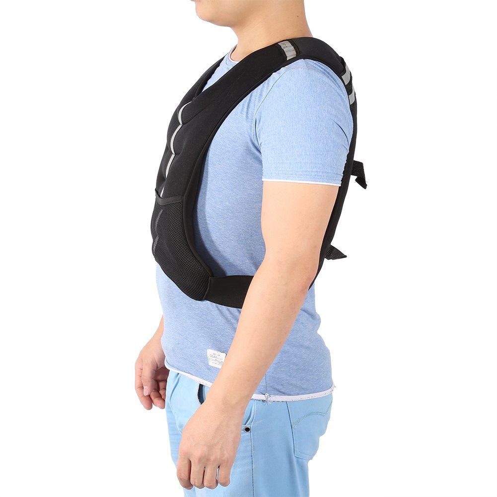 Zerone Chaleco de Peso Chaqueta de Entrenamiento de Fuerza con Hebilla Ajustable para Entrenamiento Fitness Ejercicio Chaleco Pesado