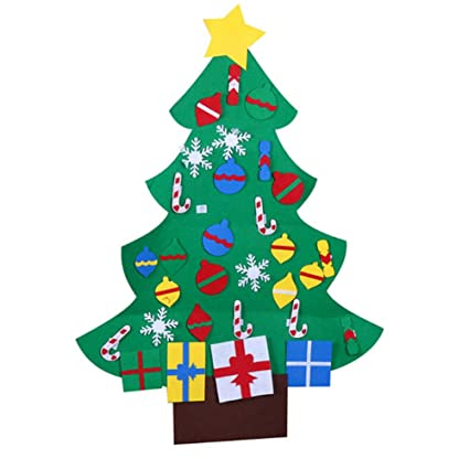felt christmas tree craft kit 39ft 26 ornaments door wall hanging decorations