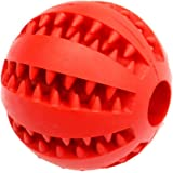 Leorealko Dog Treat Round Ball Pet Training BPA-Free Non-Toxic Rubber Tooth Cleaning Toys