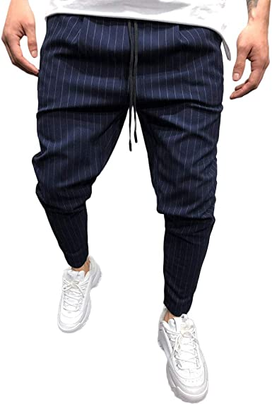 LISTHA Mens Joggers Pants Drawstring Sweatpants Trouser Casual Outdoor Pants
