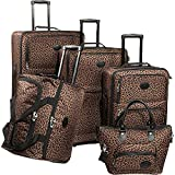 American Flyer Luggage Animal Print 5 Piece Set, Leopard, One Size