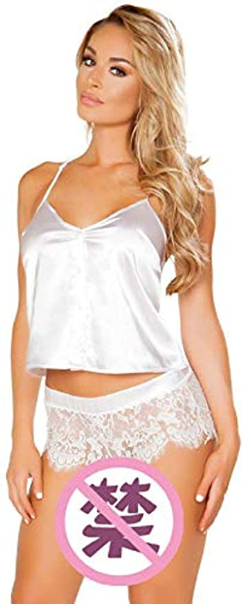 Ropa de Dormir erótica para Mujer y Conjuntos de Batas Ropa de Dormir erótica para Mujer Lencería Sexy Tirantes Sexy Pijama de Encaje @ White_M: Amazon.es: Ropa y accesorios