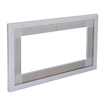 Emuca 8934725 Marco para encastrar microondas en mueble de 60cm en plastico gris metalizado
