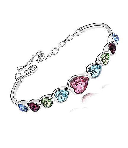 538b11f32d83 Pulsera Lucky Waltz de Lily Jewellery con cristales multicolores Swarovski  Elements en forma de corazón