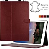 Cuvr Leather Case with Pencil Holder for 9.7' iPad Pro - Oxblood