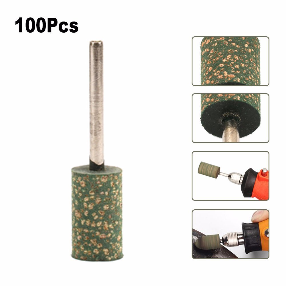 Castings 100Pcs 6mm Cylindrical Rubber Head Polishing Grinding Burr 3mm Shank Fit Rotary Tool for using on Metals Rivets and Rust Welded Joints