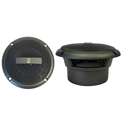 amazon com: poly-planar ma3013g round flush mount speaker pair, gray,  3-inch: home audio & theater