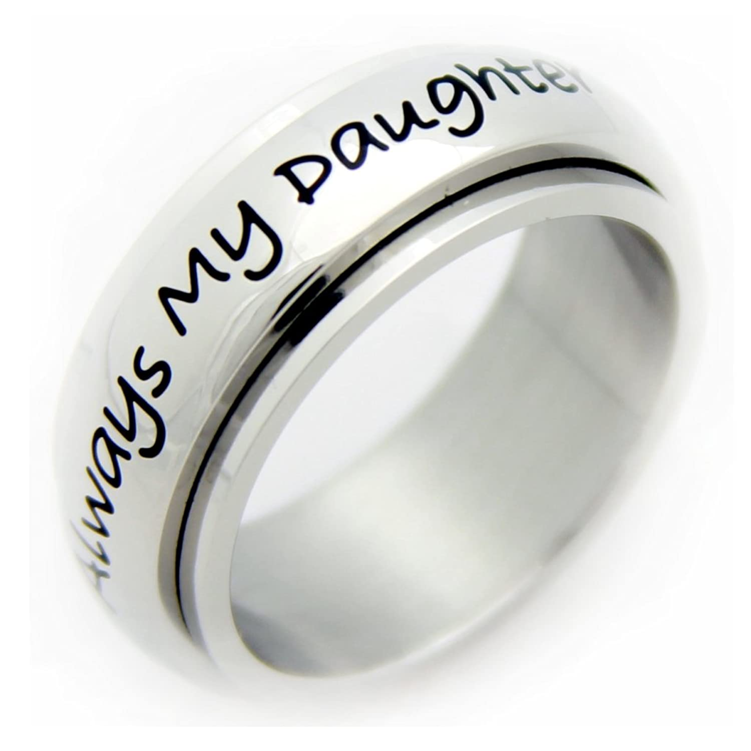 Mens Spinner Wedding Band 89 Lovely Always My Daughter Now