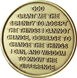 Rose One Day At A Time Serenity Prayer Medallion