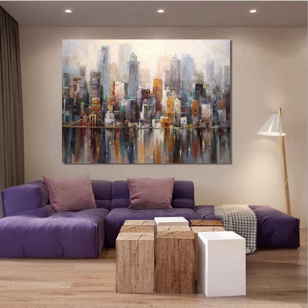 OME&MEI Handgemalte Handgemalte Handgemalte Abstrakte Dekorative Leinwand Malerei Hotel Nacht Malerei Wohnzimmer Schlafzimmer Dekoration, 90X180 cm 38de87