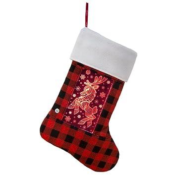 yew stuff christmas stockings for men women kids pets led light - Girl Stuff For Christmas
