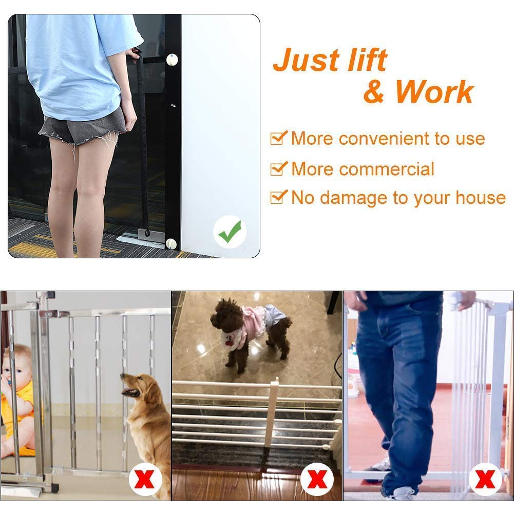 Portable Folding Safe Enclosure Easy Install Anywhere Baby Safety Fence,Pet Safety Enclosure Magic Gate for Dogs 72x180cm