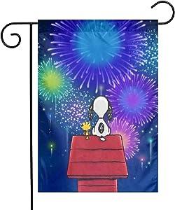 LYYTZ_id Snoopy Happy 4th of July Garden Flag Home Outdoor/Indoor Yard Flag 12 X 18 Inch