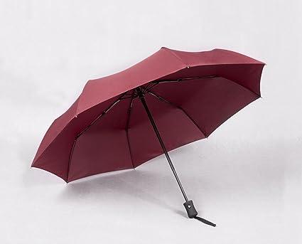 HCJYS JCRNJSB® Paraguas, plegado automático grande doble Tri-fold Windproof Rain Student Fácil