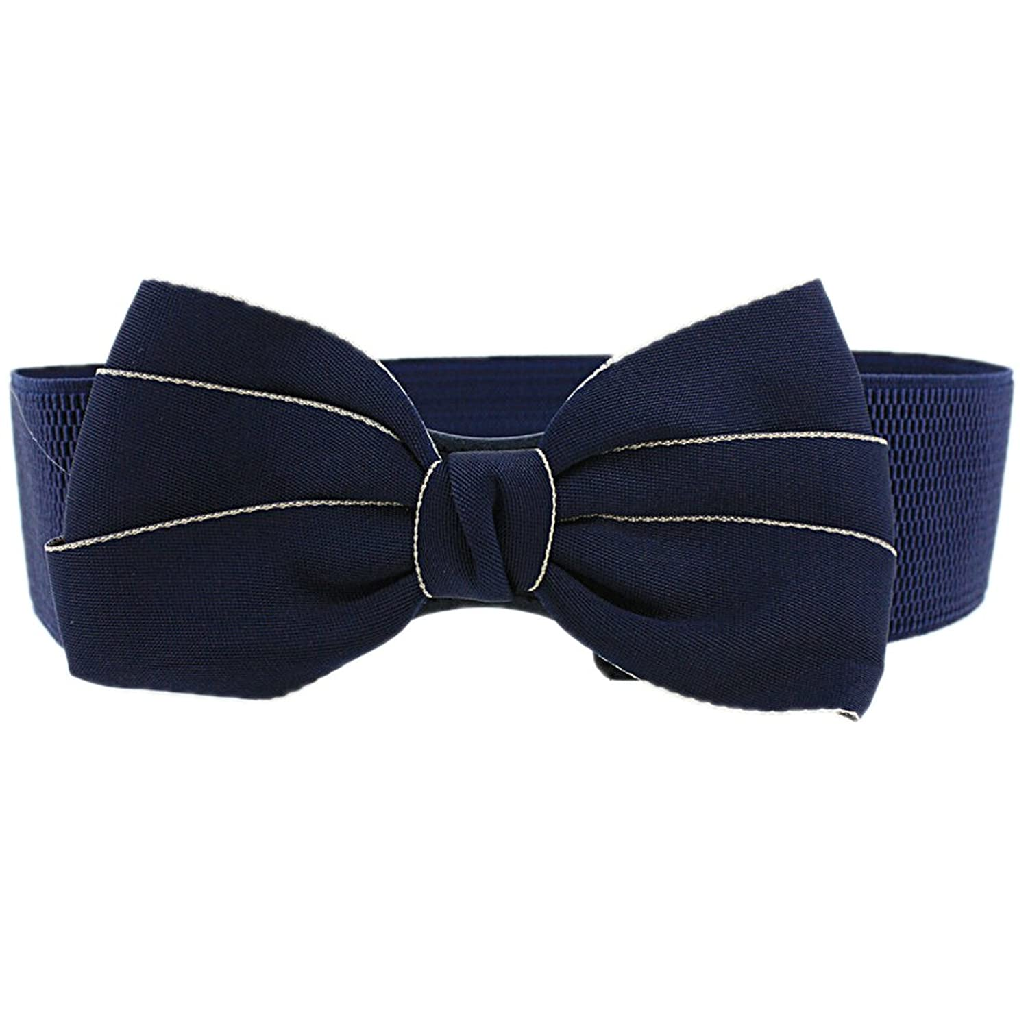 Nanxson(TM) Women's Elegant Cotton Bowtie Buckle Wide Waist Belt PDW0088