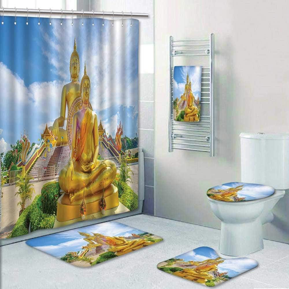AmaPark - Juego de 5 Piezas de Cortinas de baño con diseño de Estatua de San Mateo en la Basílica de San Juan Laterán en Roma, para Decorar el baño, 1 Cortina