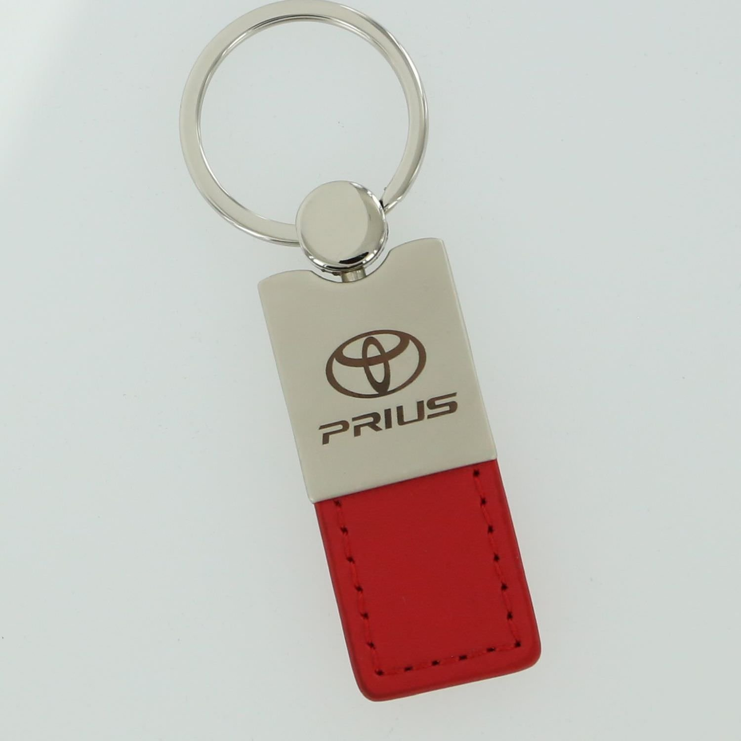 Toyota Prius Red Leather Key Ring