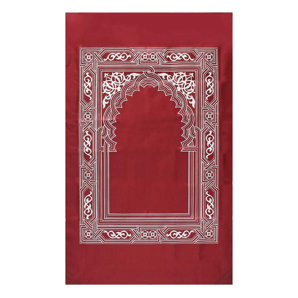 Balai Couverture de pri/ère Musulmane Portable Couverture de pri/ère Islamique en Polyester 210 D avec Sac Compass 60 * 100cm