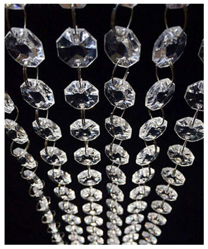 98.4FT Magnificent Crystal Acrylic Gems Bead Strands, Manzanita Crystals, Tree Garlands, Christmas Wedding Party Celebration Decoration (99FT(30M)) Jiangsheng 4336814829